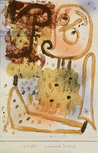 Unknown Initial, 1939 (oil, watercolour, wax crayon and pencil on paper)