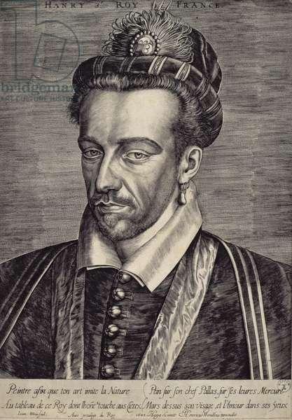 Henri III Valois (1551-89) (engraving)