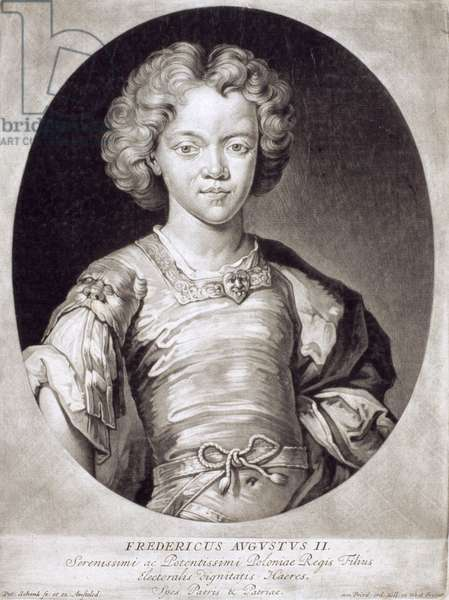 Augustus III (1696-1763) King of Poland as a Child (engraving)