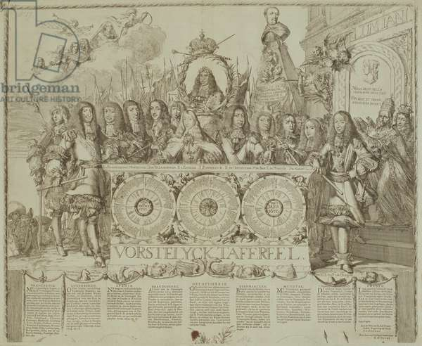 Vorstelyck Tafereel, c.1676 (engraving)
