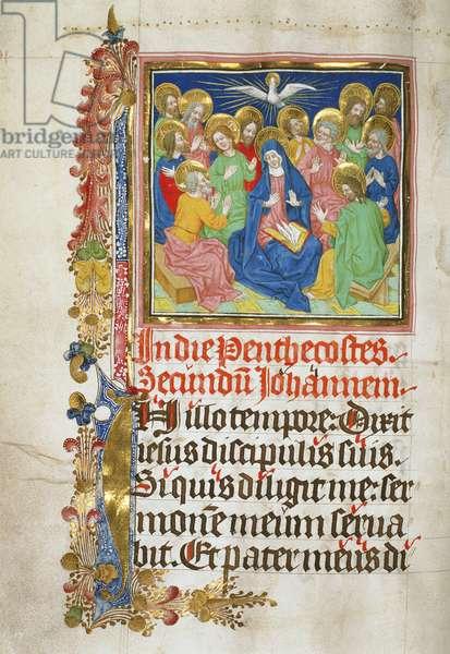 The Descent of the Holy Spirit, 1450-1500 (vellum)
