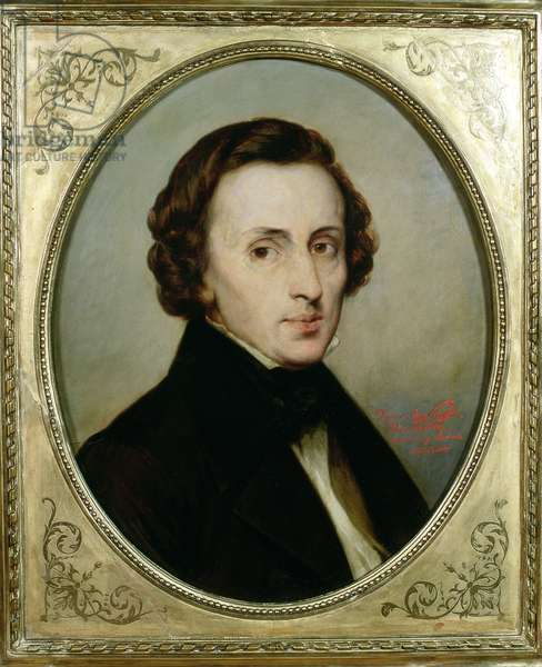 Frederic Chopin (1810-49) (oil on board)