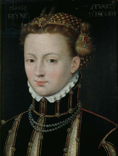 Mary Stuart (1542-87) (oil on canvas)