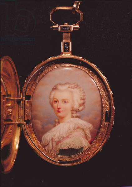 Portrait miniature of Marie-Antoinette (1755-93) (w/c on ivory)