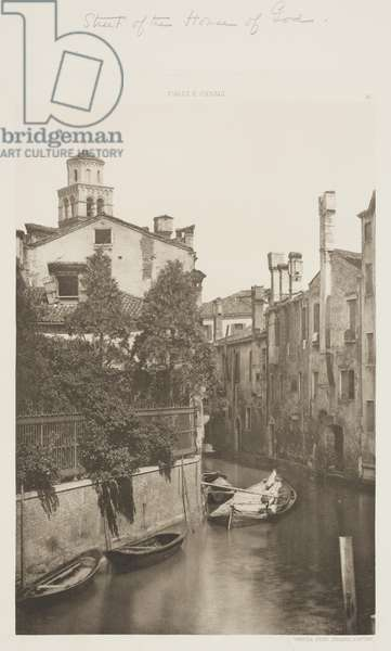 Street of the House of God, 1891 (photogravure)