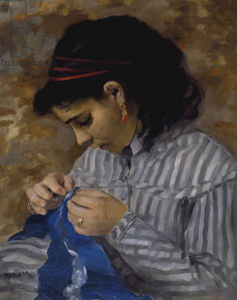 Lise Sewing, c.1867-68 (oil on canvas)