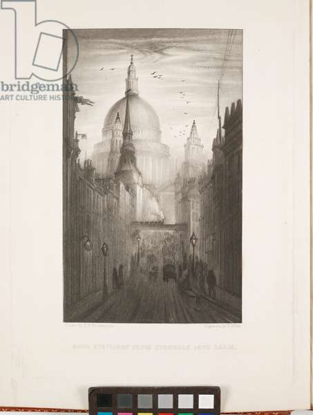 Soul Strivings from Struggle Into Calm, from Wren's City Churches, engraved by G. Allen, 1883 (mezzotint)