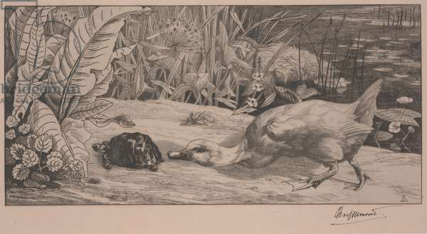 The Unknown, 1862 (etching)