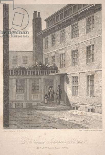 Dr. Samuel Johnson's House, 1835 (etching)