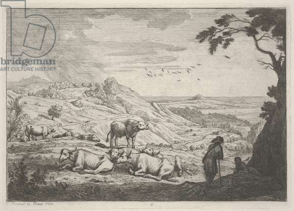 Landscape with Cows, 1753 (etching)