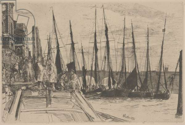 Billingsgate, 1859 (etching and drypoint)