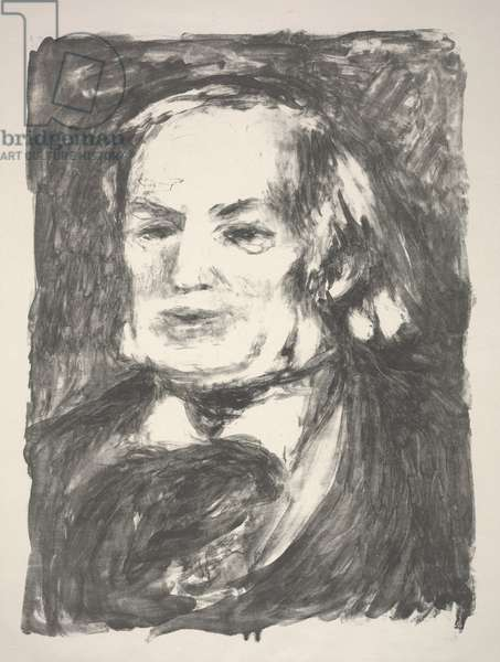 Portrait of Richard Wagner, 1900 (litho)