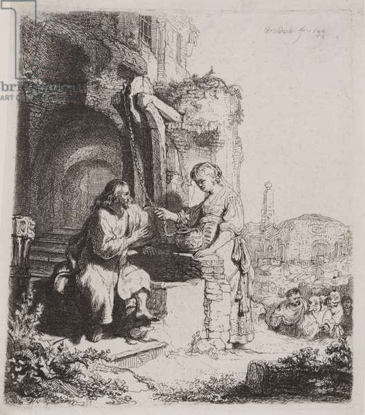 Christ and the Woman of Samaria: Among Ruins, 1634 (etching)