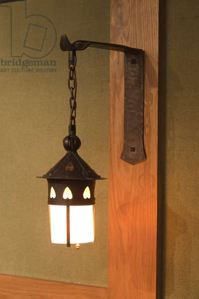 Pair of sconces, c.1904-1913 (copper and glass)