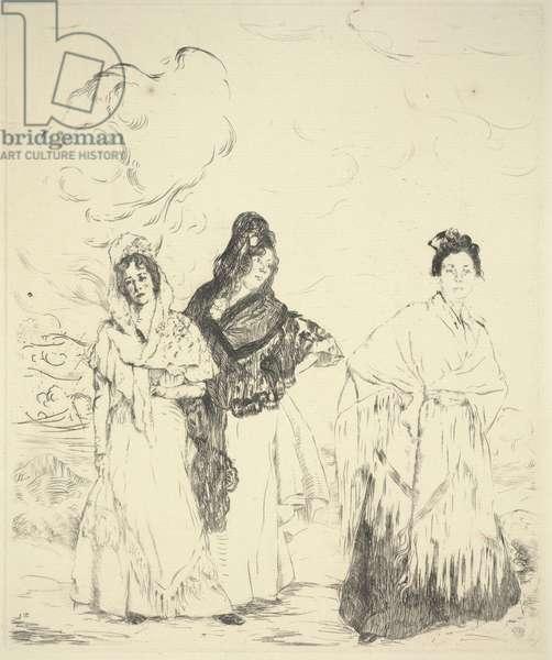 Las Manolas, c.1899 (drypoint)