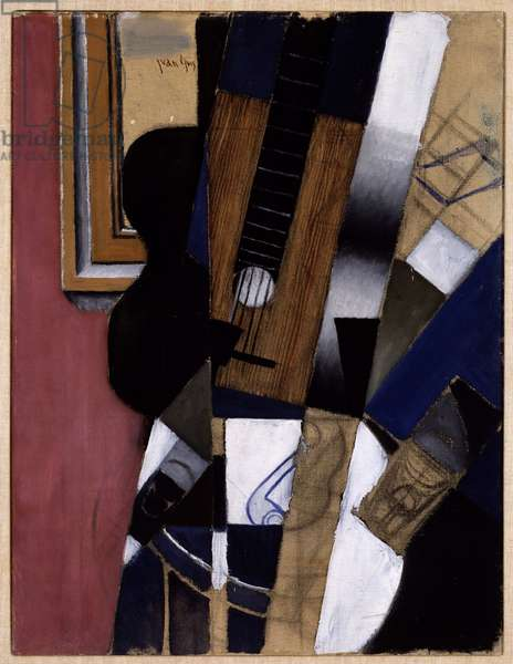 Guitar and Pipe, 1913 (oil & charcoal on canvas)