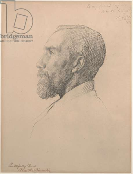 Portrait of Professor Alexander Kennedy, 1884 (lithograph)