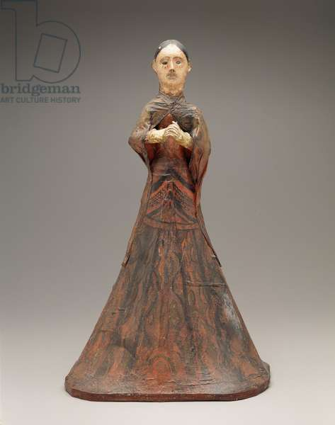 Nuestra Senora de los Dolores, 19th century (wood, gesso, paint, cloth & glass)