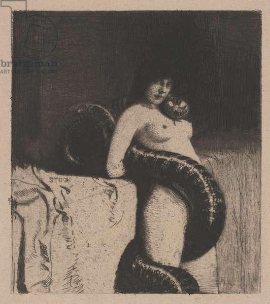 Sensuality, 1898 (etching)