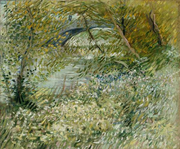River Bank in Springtime, 1887 (oil on canvas)