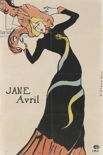 Jane Avril, 1899 (color lithograph)