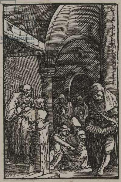 Christ Among the Doctors, c.1515 (woodcut)