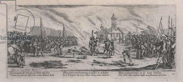 The Burning at the Stake (La Bûcher), from 'The Miseries of War', 1633 (etching)