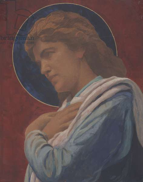 A Saint (pastel and watercolor on paper)