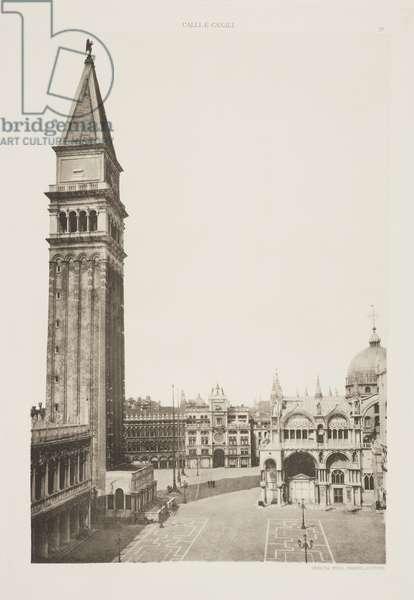 Campanile of St Mark's Basilica, 1891 (photogravure)