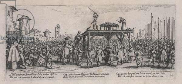 The Wheel (La Roue), from 'The Miseries of War', 1633 (etching)