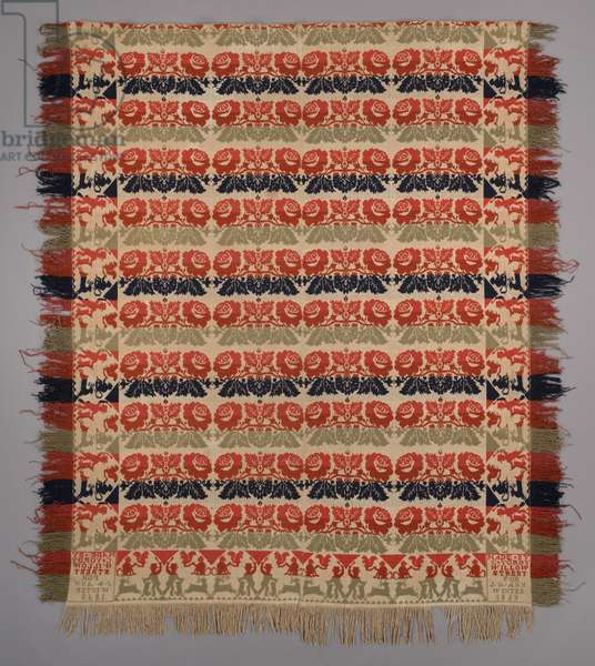 Coverlet, 1839 (cotton and wool)