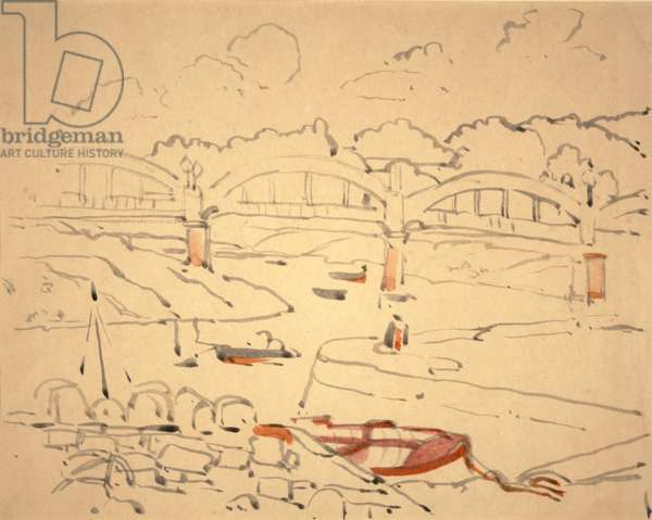 "Illustration for ""The Book of Bridges"", c.1911 (w/c & ink on paper)"