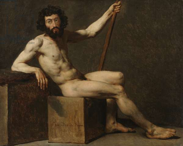 Nude Study, late 18th-early 19th century (oil on canvas)