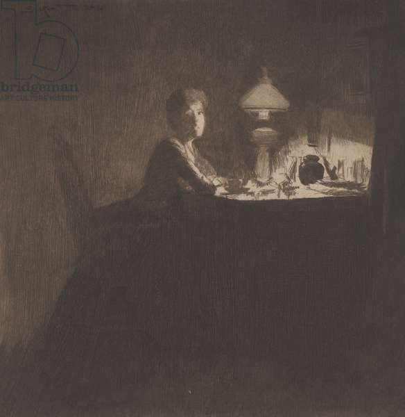 The Acting Manager, Mrs D'Oyly Carte, 1884 (etching)