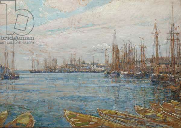 Harbor of a Thousand Masts, 1919 (oil on panel)