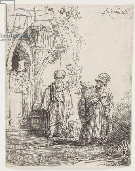 Jacob and Laban, 1641 (etching)
