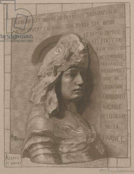 La France, 1912 (wood engraving)