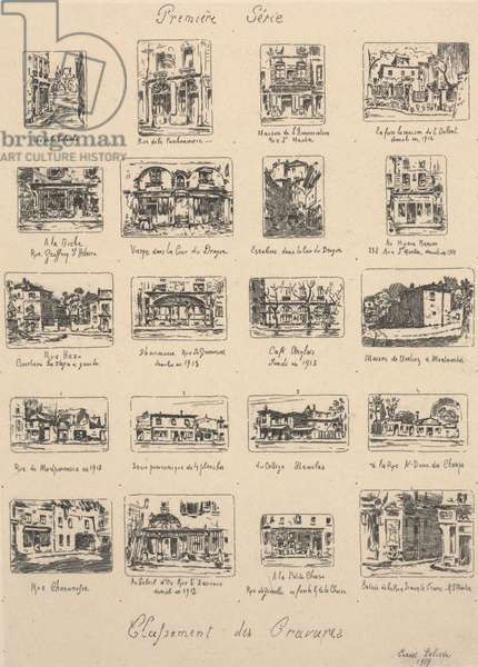 First Series, Classifications of Engravings, 1917 (etching)