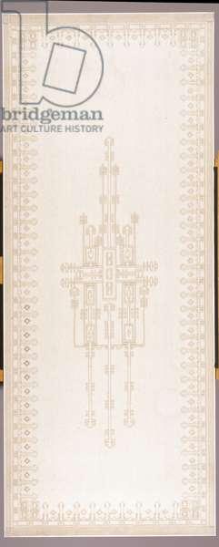 Curtain panel, c.1908 (cotton & linen)