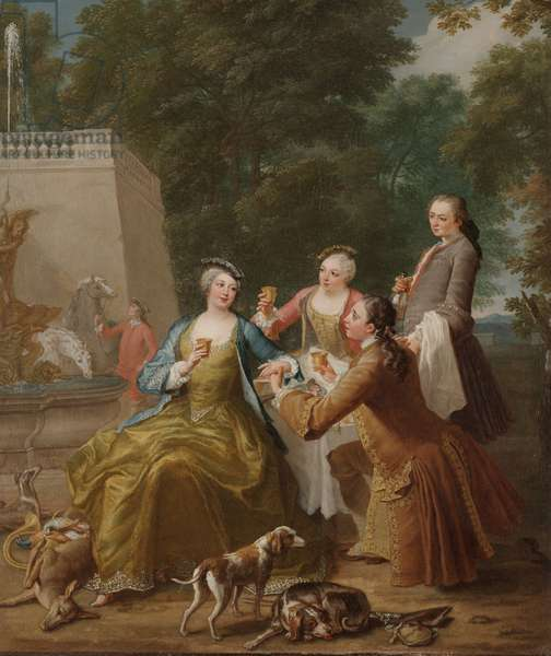 After the Hunt, or Apres la Chasse, 1730 (oil on canvas)
