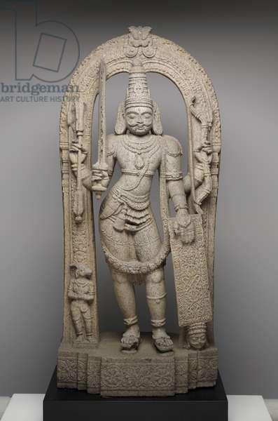 Virabhadra, 16th–17th century (stone)