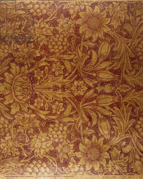 """""""Sunflower"""" wallpaper (printed, gilded & lacquered paper)"""