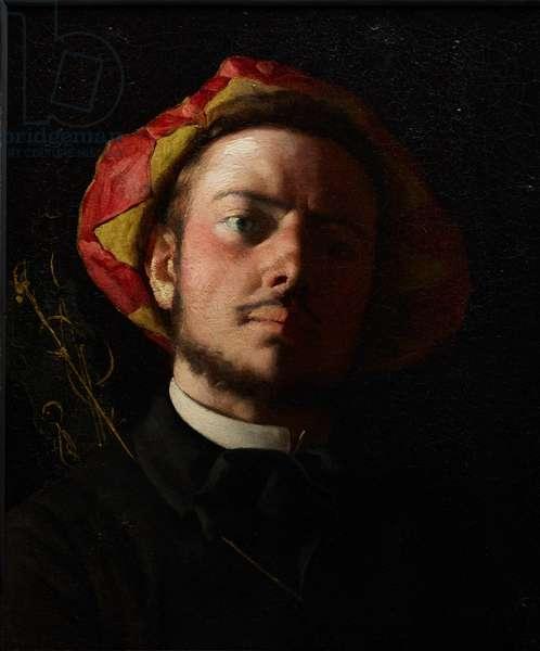 Portrait of Paul Verlaine as a Troubadour, 1868 (oil on canvas)
