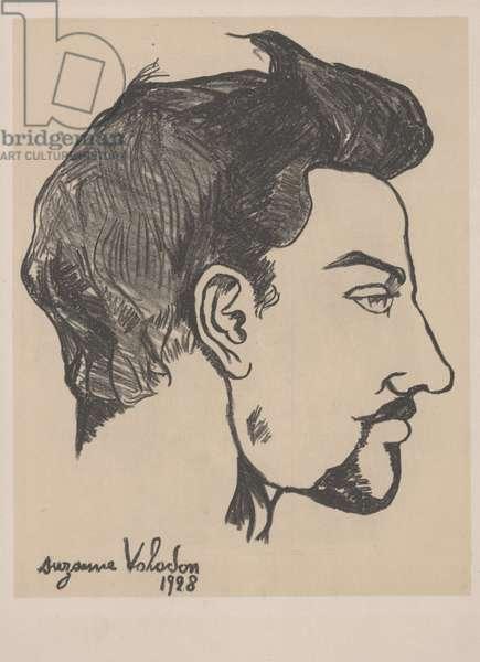 Portrait of Utrillo in profile, 1928 (litho)