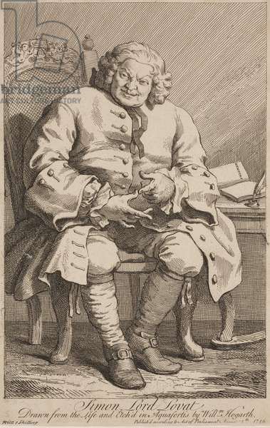 Portrait of Lord Lovat, 2nd State, 1746 (etching)