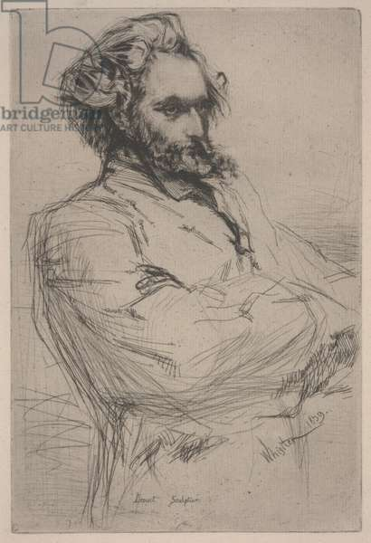 Portrait of Drouet, 1859 (etching and drypoint)