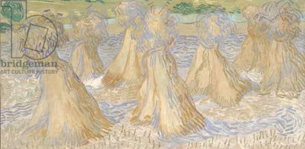 Sheaves of Wheat, July 1890 (oil on canvas)