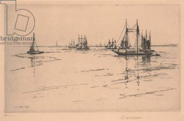 Buttermilk Channel, 1889 (etching)