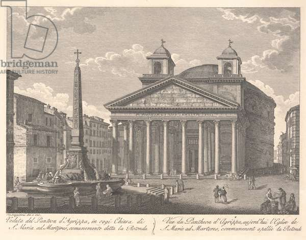 View of the Pantheon of Agrippa (etching)