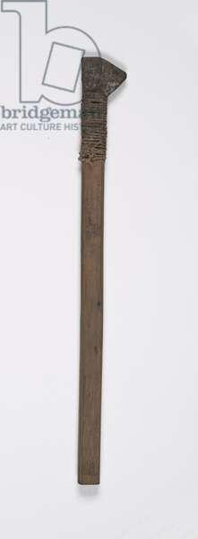 Batik pen, 20th century (aluminum, bamboo, and fiber)